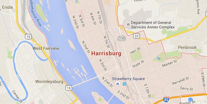 Harrisburg, Pennsylvania on Google Maps