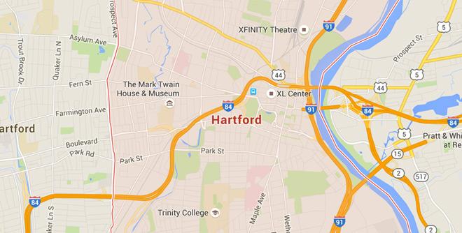Hartford, Connecticut on Google Maps
