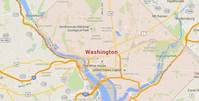 Washington,D.C. on Google Maps